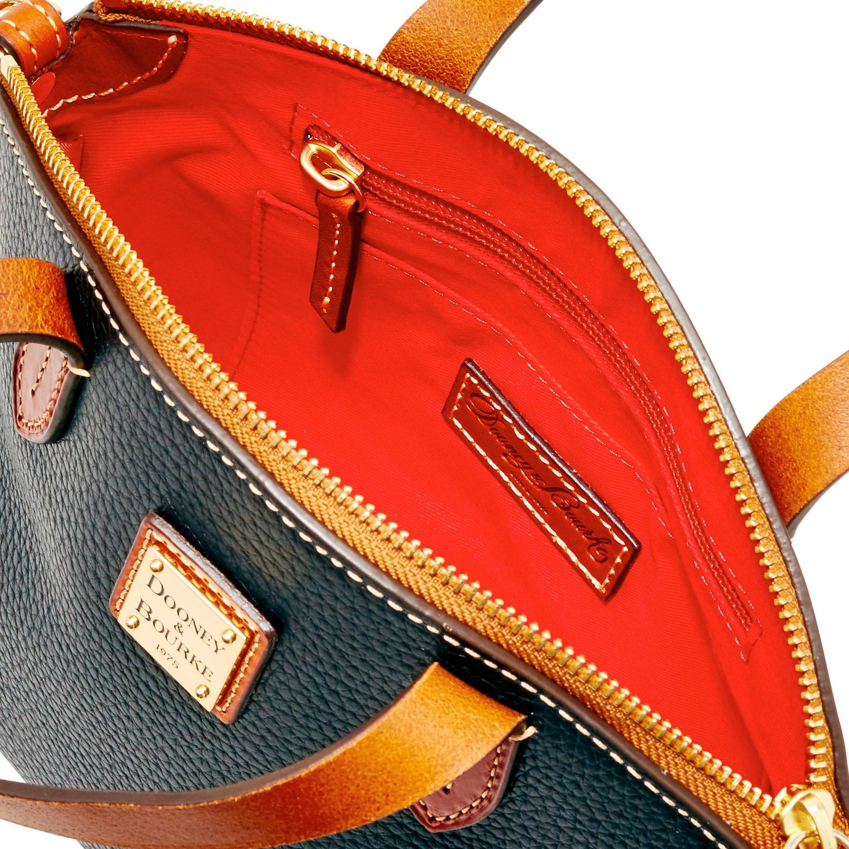 Dooney-amp-Bourke-Pebble-Grain-Ruby-Top-Handle-Bag thumbnail 10