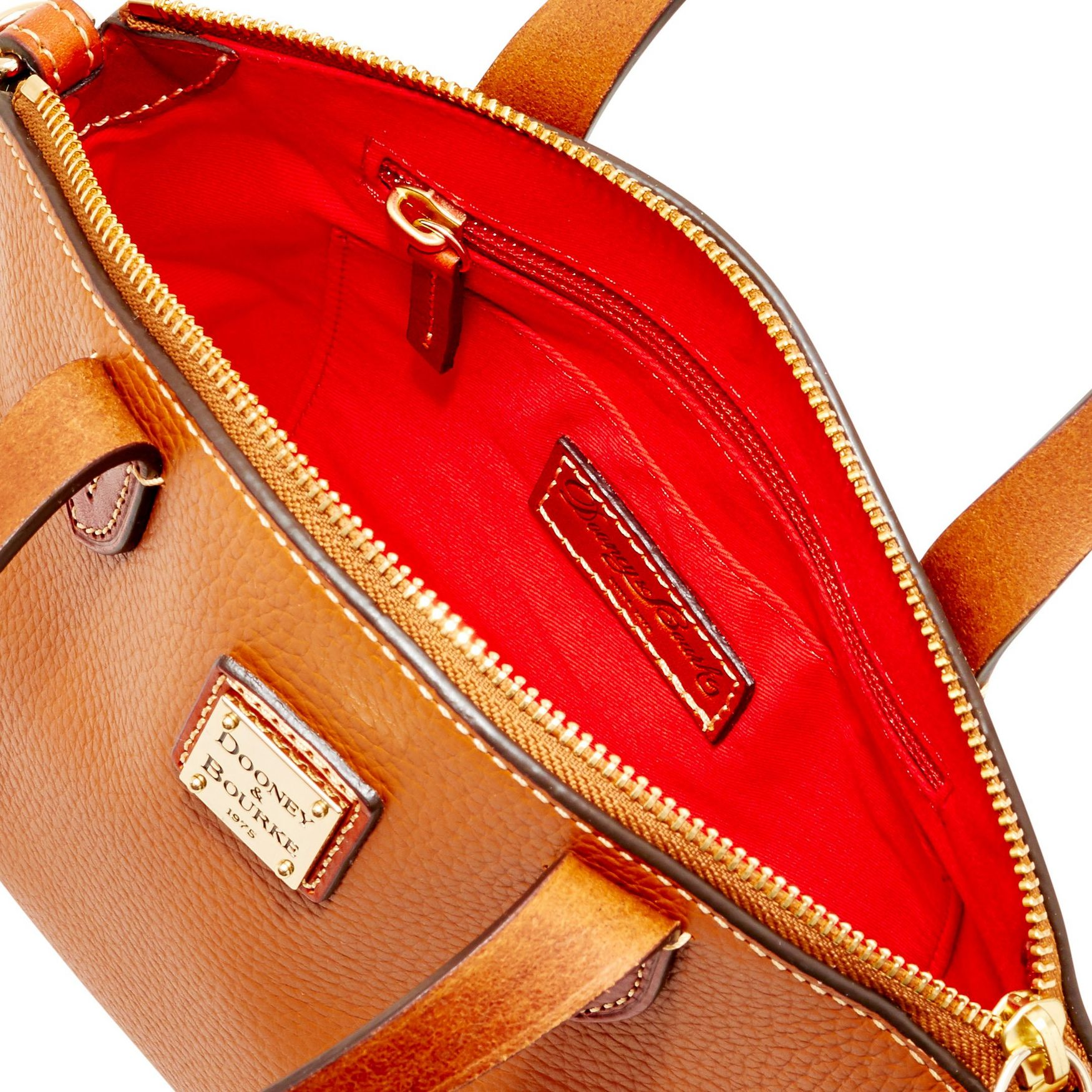 Dooney-amp-Bourke-Pebble-Grain-Ruby-Top-Handle-Bag thumbnail 20