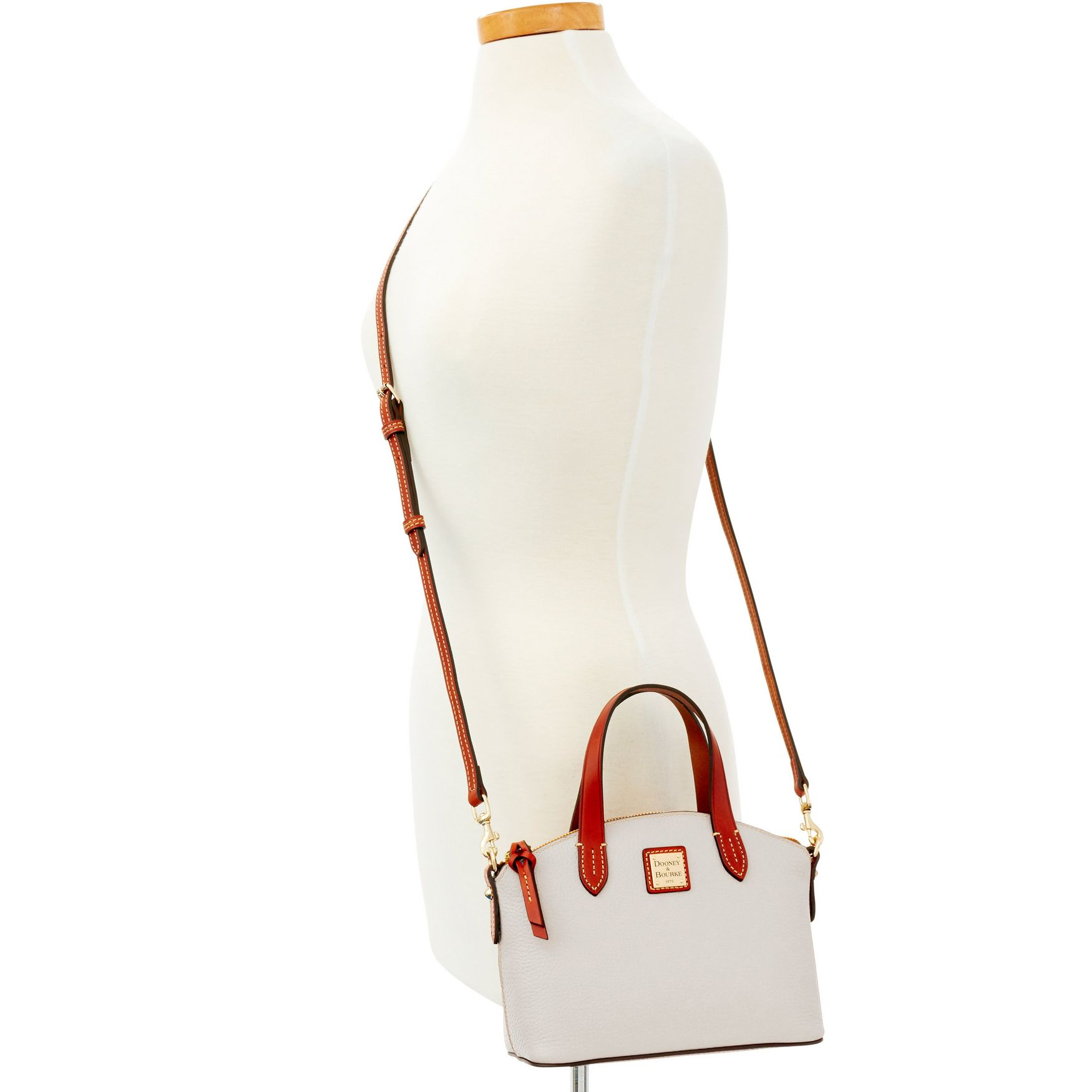 Dooney-amp-Bourke-Pebble-Grain-Ruby-Top-Handle-Bag thumbnail 30