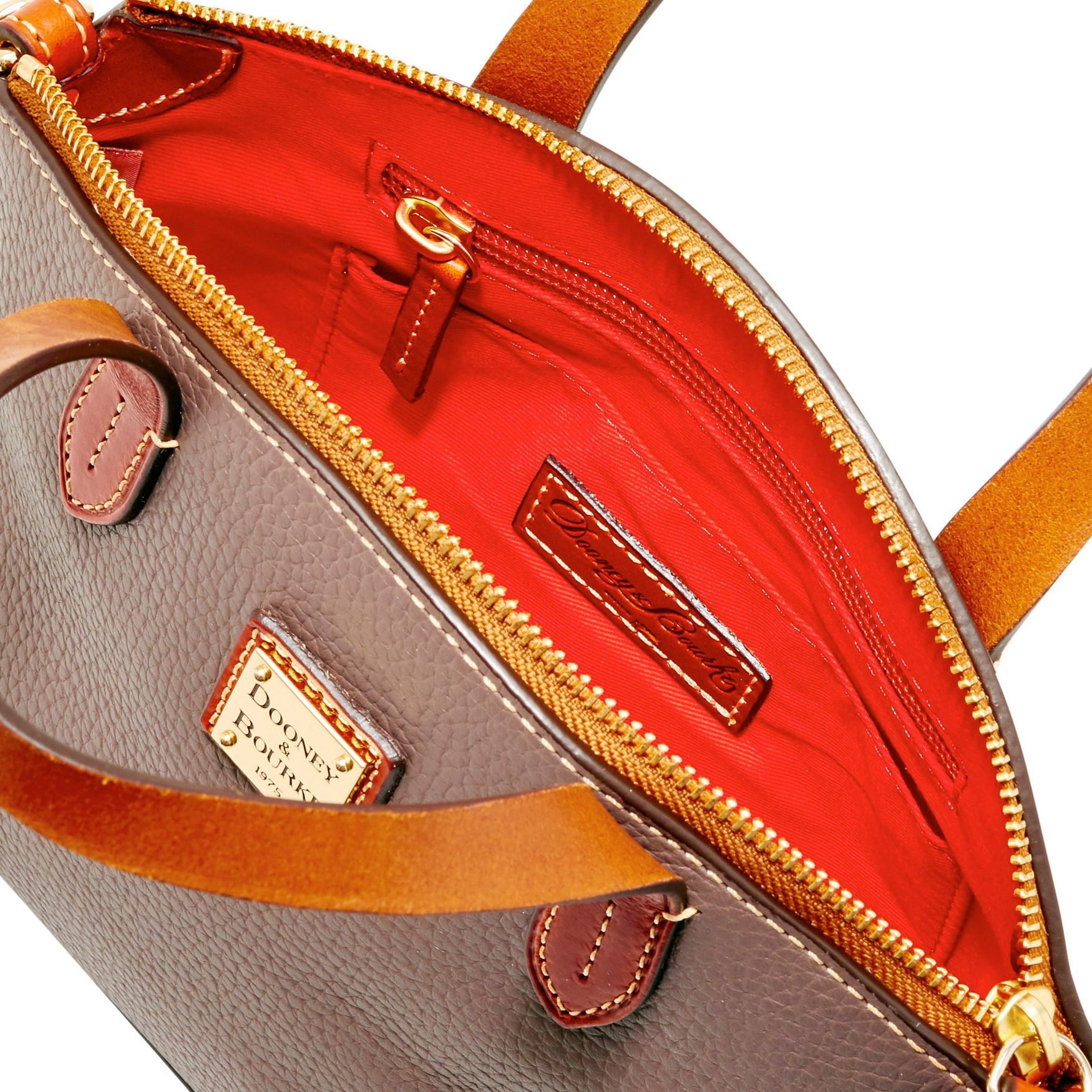 Dooney-amp-Bourke-Pebble-Grain-Ruby-Top-Handle-Bag thumbnail 34