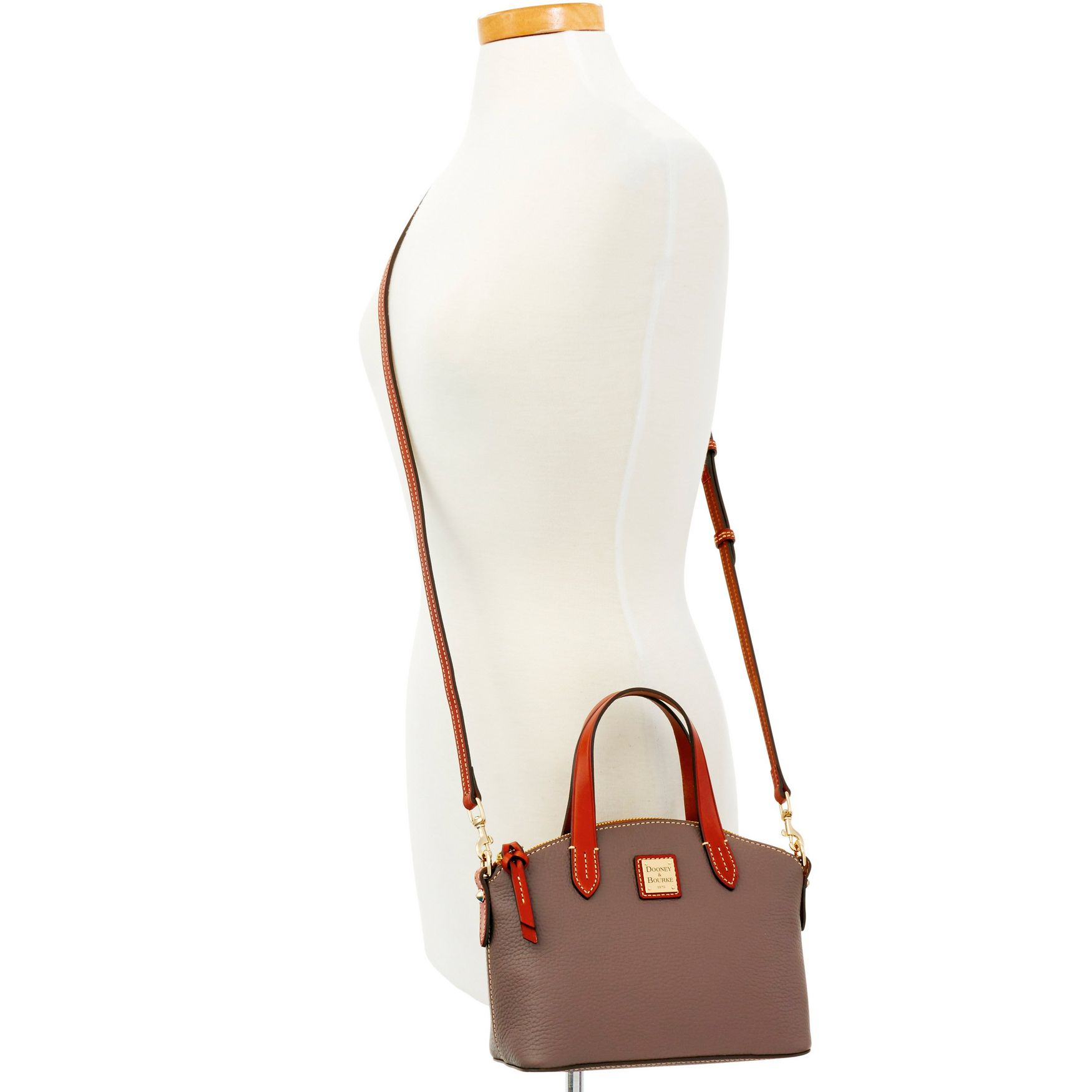 Dooney-amp-Bourke-Pebble-Grain-Ruby-Top-Handle-Bag thumbnail 35