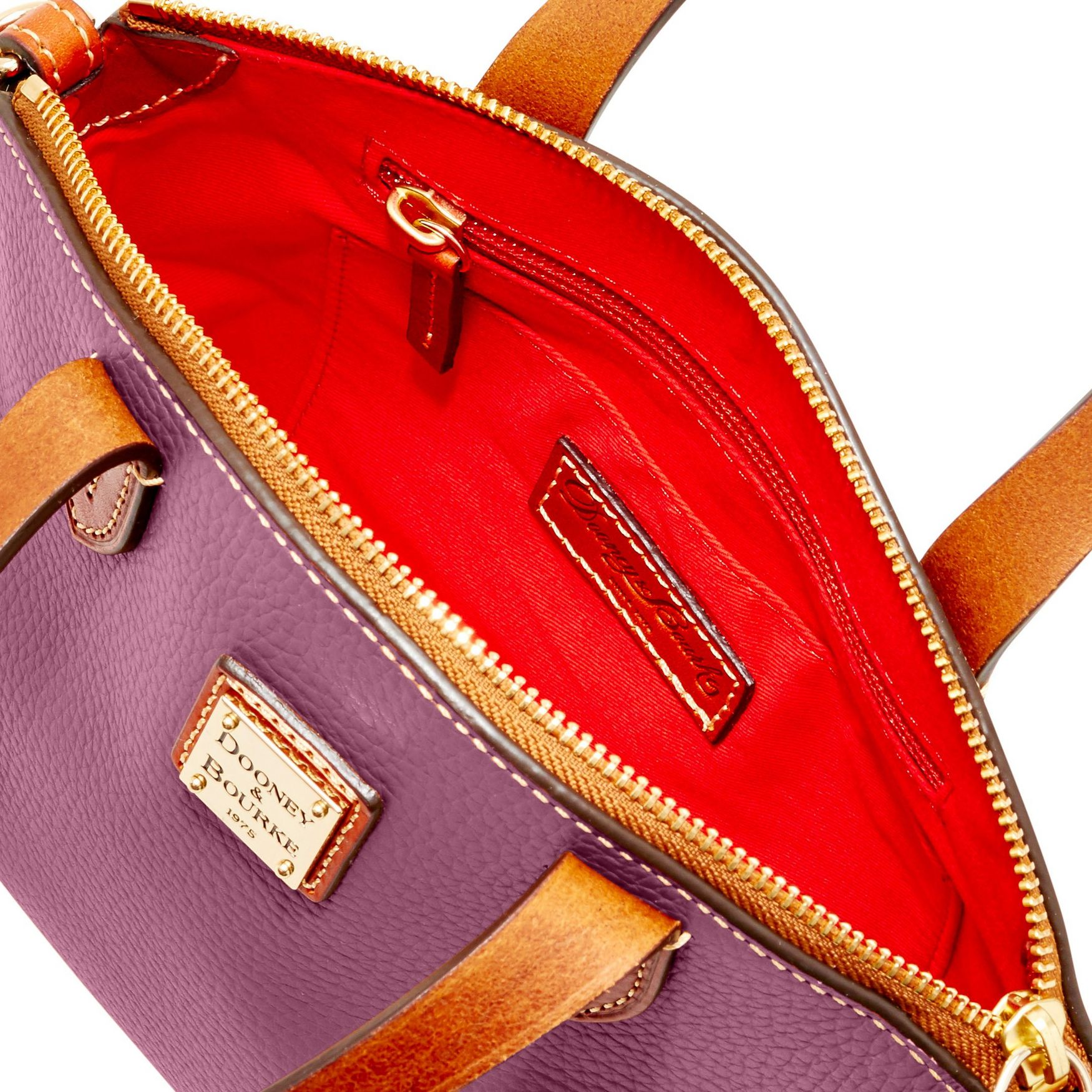 Dooney-amp-Bourke-Pebble-Grain-Ruby-Top-Handle-Bag thumbnail 24