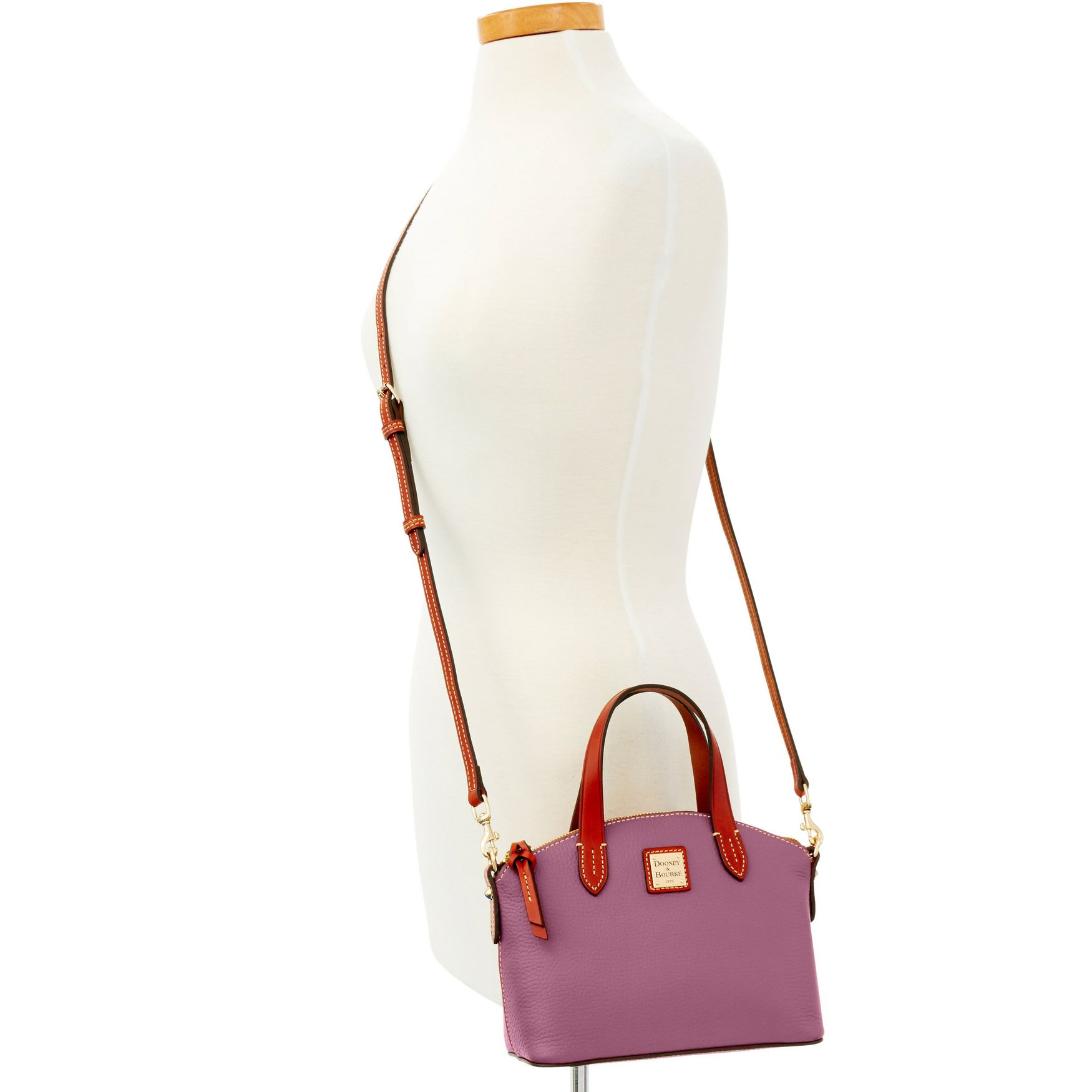 Dooney-amp-Bourke-Pebble-Grain-Ruby-Top-Handle-Bag thumbnail 25