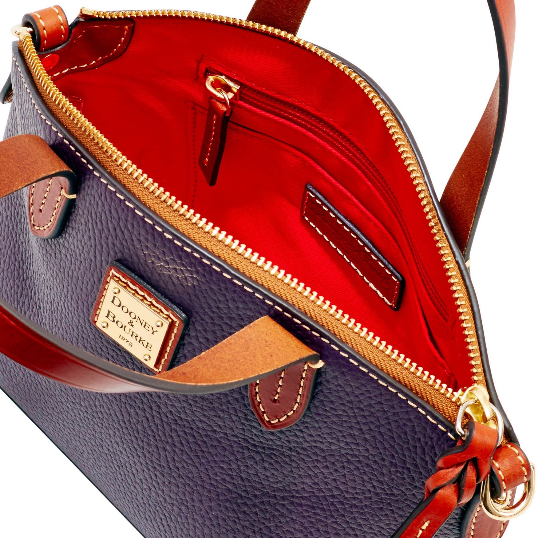 Dooney-amp-Bourke-Pebble-Grain-Ruby-Top-Handle-Bag thumbnail 54
