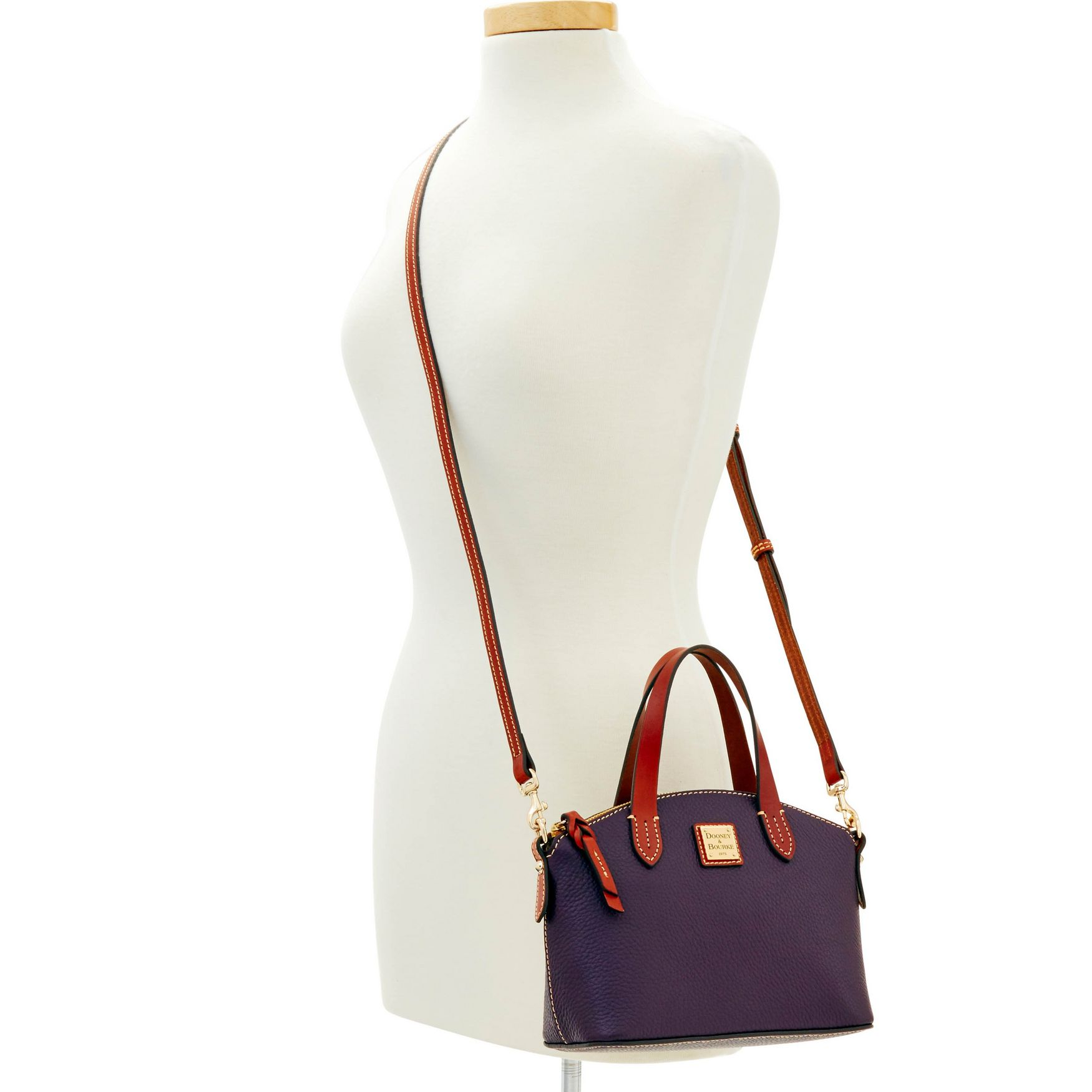 Dooney-amp-Bourke-Pebble-Grain-Ruby-Top-Handle-Bag thumbnail 55