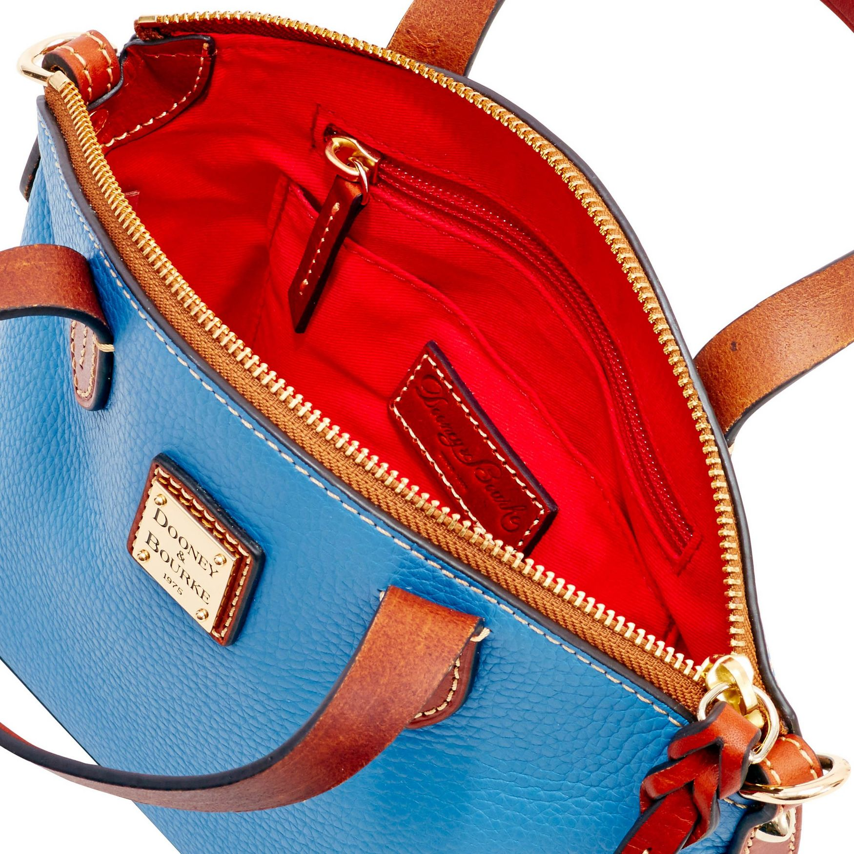 Dooney-amp-Bourke-Pebble-Grain-Ruby-Top-Handle-Bag thumbnail 5