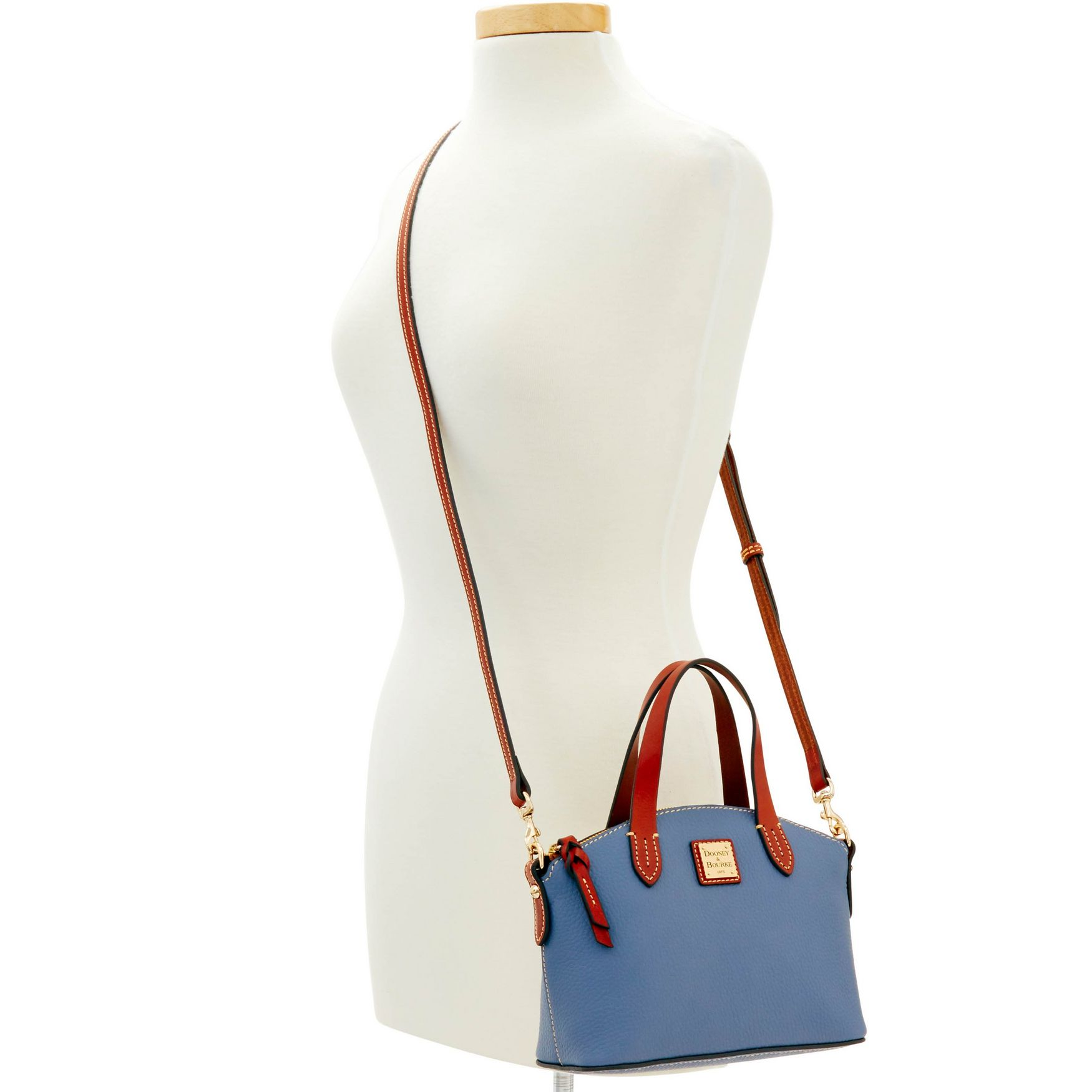 Dooney-amp-Bourke-Pebble-Grain-Ruby-Top-Handle-Bag thumbnail 40