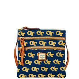 Georgia Tech Triple Zip Crossbody