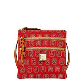 NC State Triple Zip Crossbody