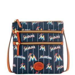 Marlins Triple Zip Crossbody