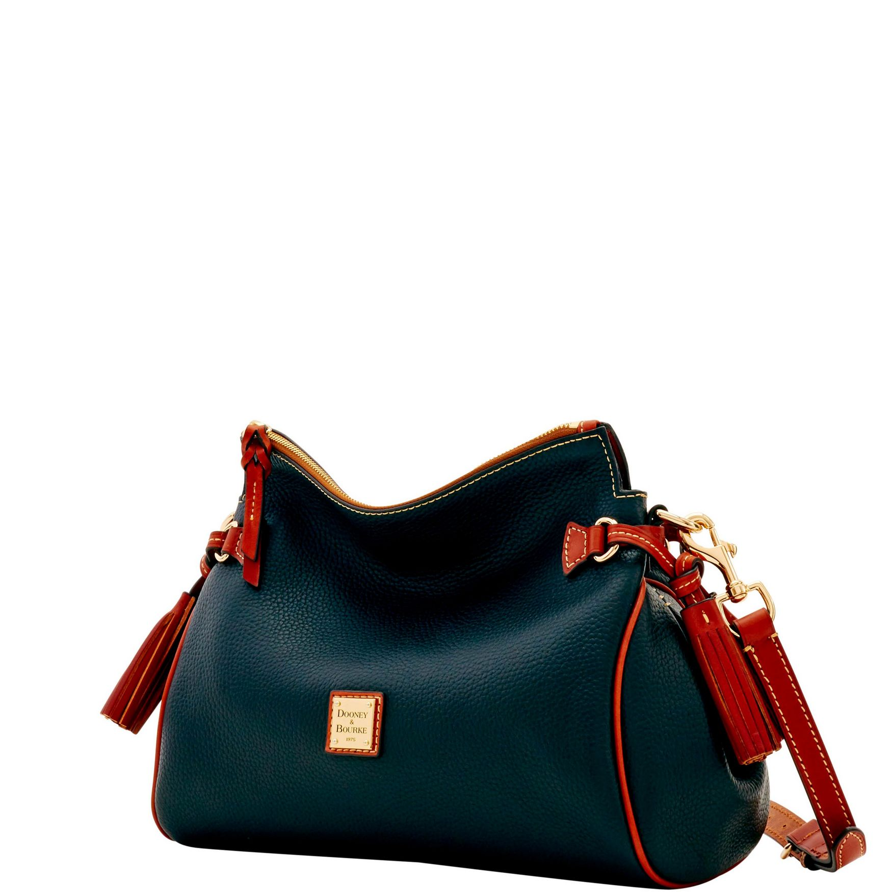 Dooney-amp-Bourke-Pebble-Grain-Medium-Zip-Crossbody-Shoulder-Bag thumbnail 4
