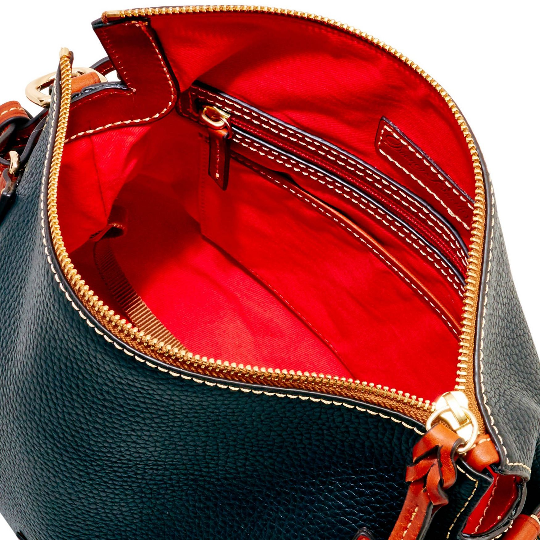Dooney-amp-Bourke-Pebble-Grain-Medium-Zip-Crossbody-Shoulder-Bag thumbnail 5