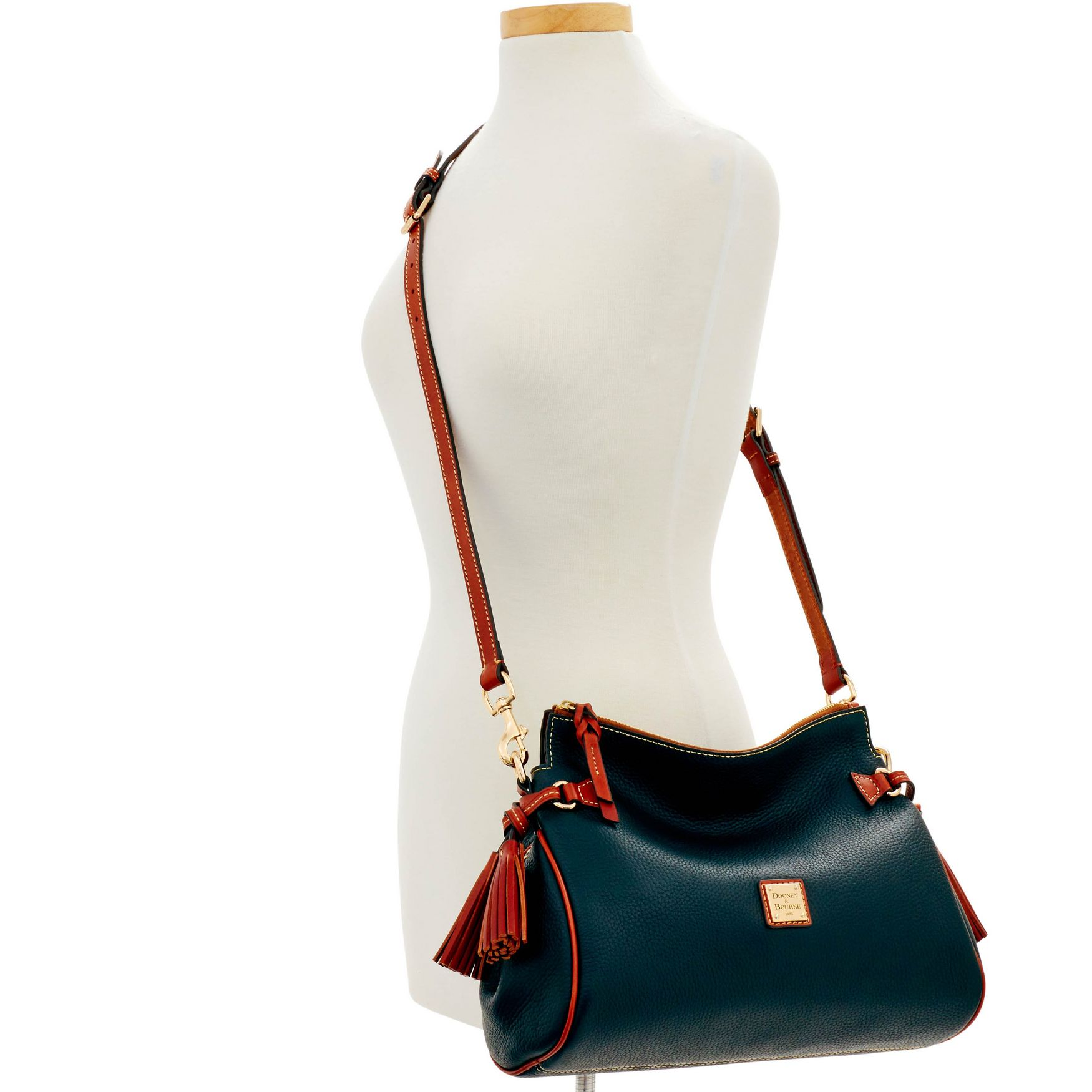 Dooney-amp-Bourke-Pebble-Grain-Medium-Zip-Crossbody-Shoulder-Bag thumbnail 6