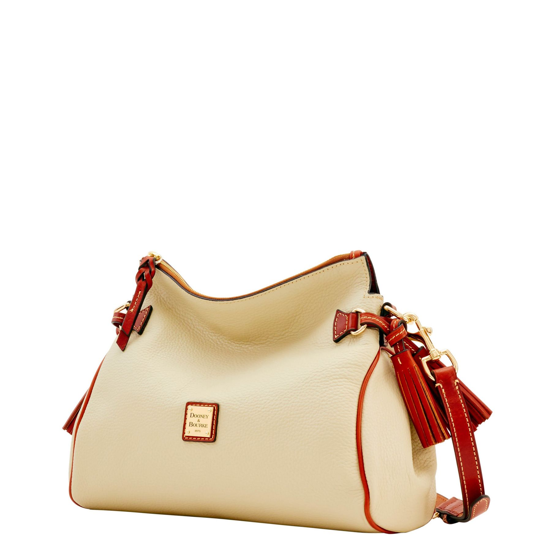 Dooney-amp-Bourke-Pebble-Grain-Medium-Zip-Crossbody-Shoulder-Bag thumbnail 12