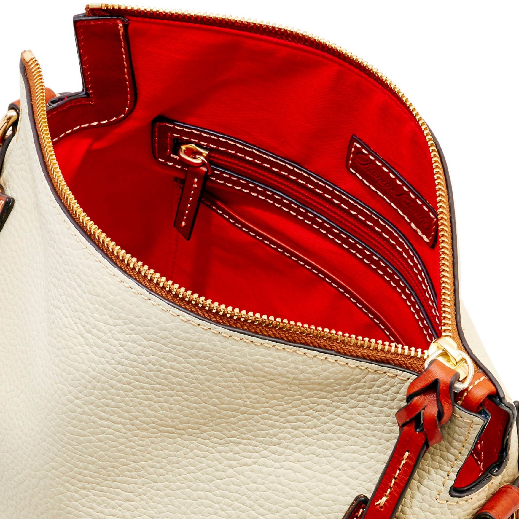 Dooney-amp-Bourke-Pebble-Grain-Medium-Zip-Crossbody-Shoulder-Bag thumbnail 13