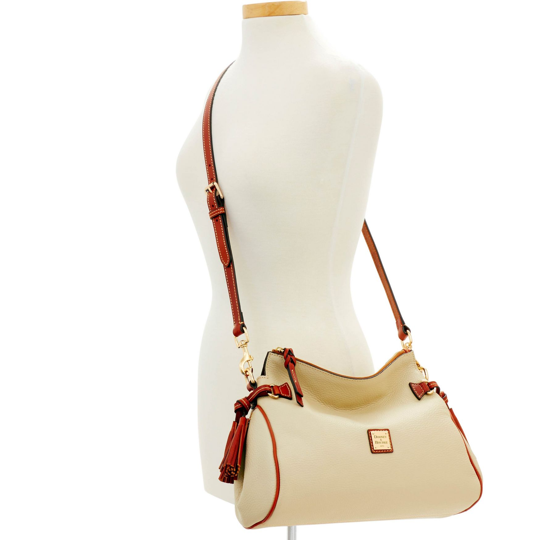 Dooney-amp-Bourke-Pebble-Grain-Medium-Zip-Crossbody-Shoulder-Bag thumbnail 14