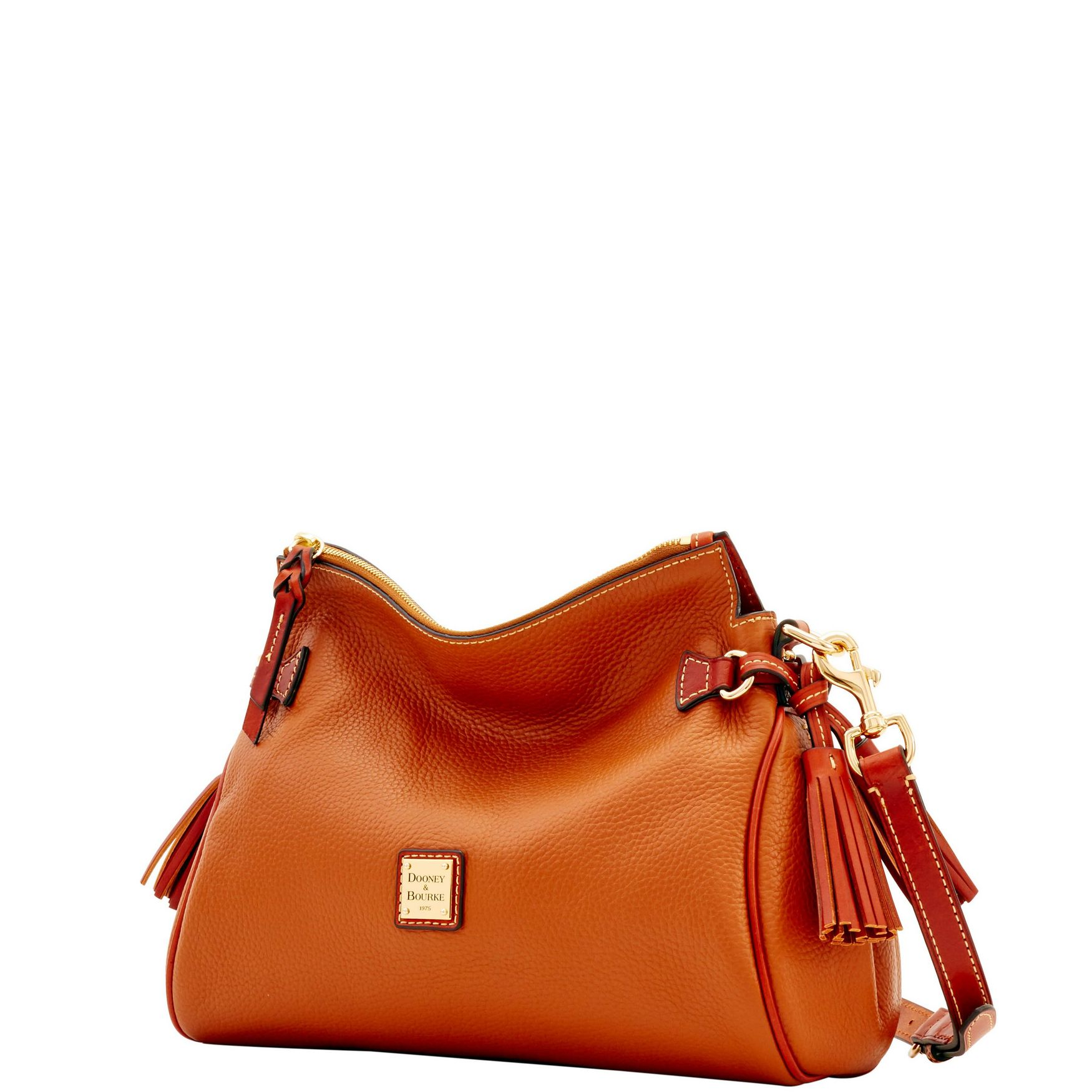 Dooney-amp-Bourke-Pebble-Grain-Medium-Zip-Crossbody-Shoulder-Bag thumbnail 16