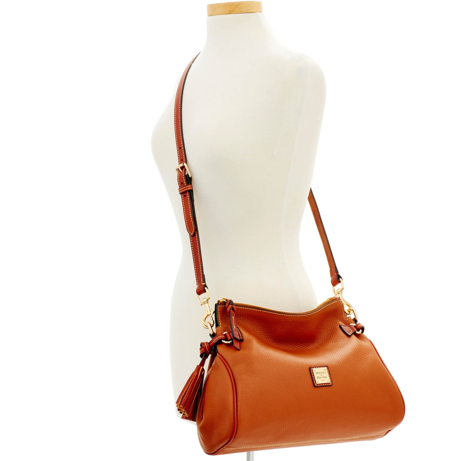 Dooney-amp-Bourke-Pebble-Grain-Medium-Zip-Crossbody-Shoulder-Bag thumbnail 18