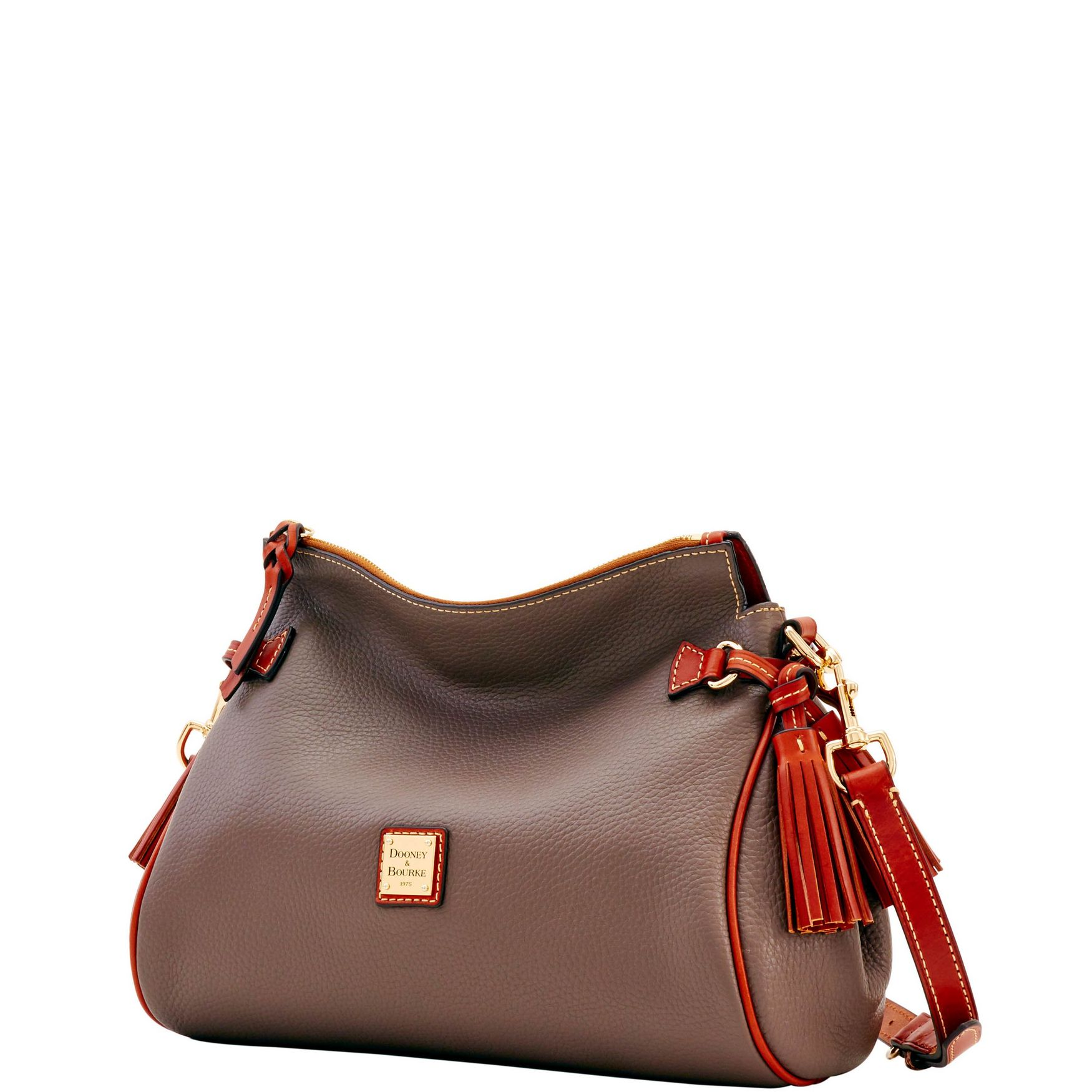Dooney-amp-Bourke-Pebble-Grain-Medium-Zip-Crossbody-Shoulder-Bag thumbnail 20