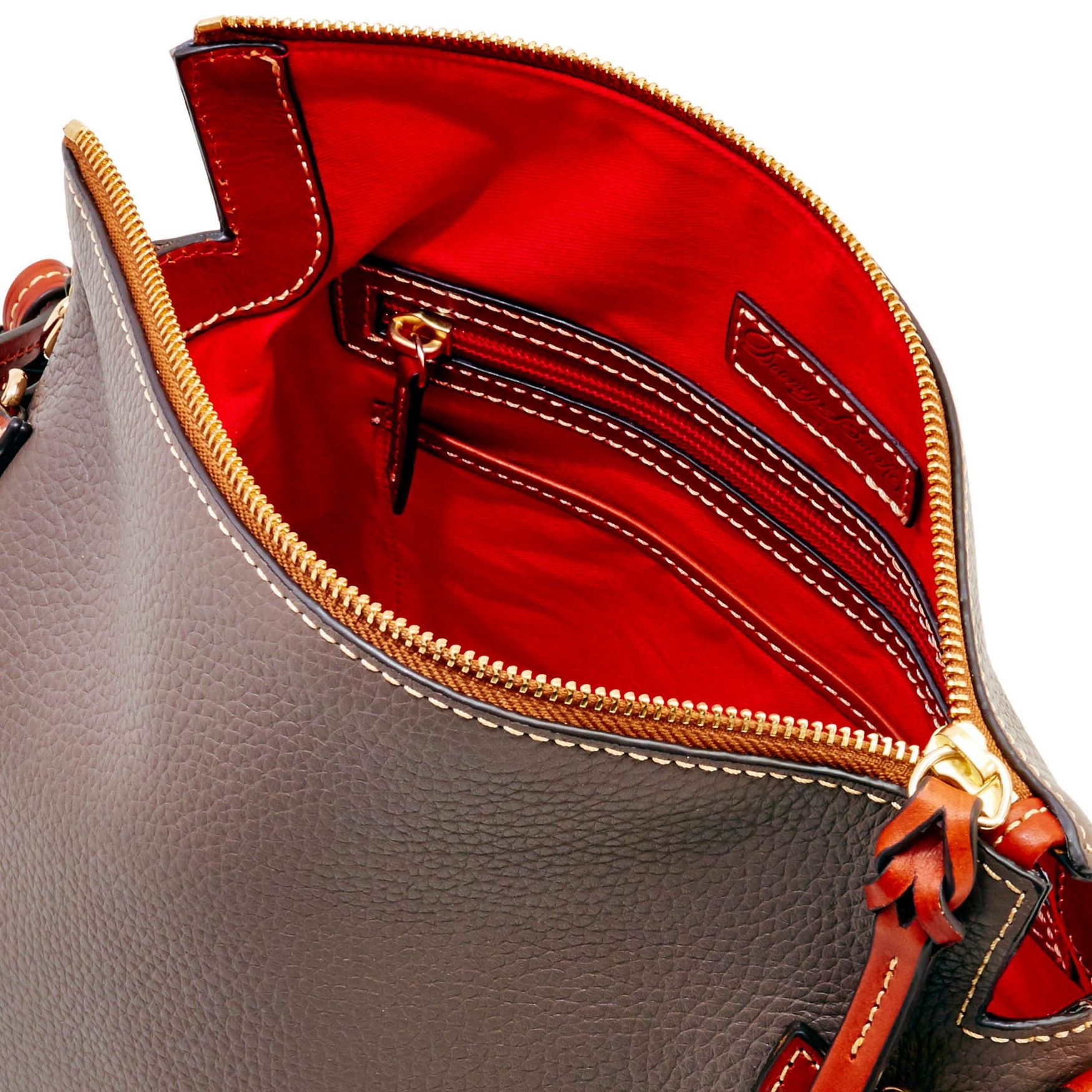 Dooney-amp-Bourke-Pebble-Grain-Medium-Zip-Crossbody-Shoulder-Bag thumbnail 21