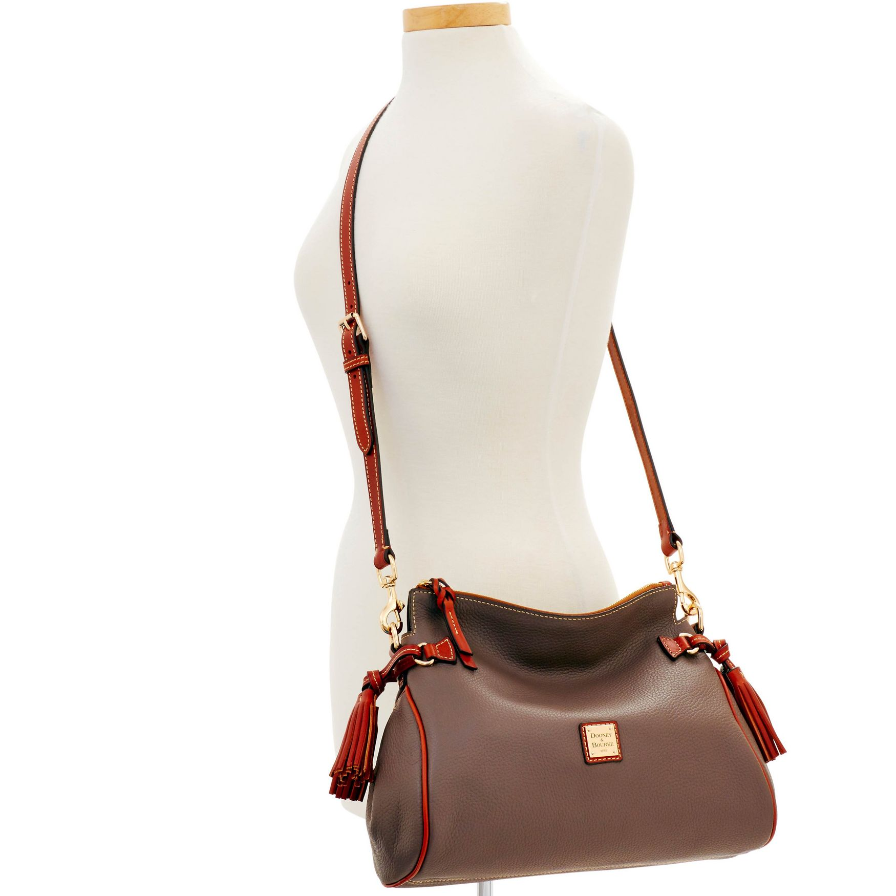 Dooney-amp-Bourke-Pebble-Grain-Medium-Zip-Crossbody-Shoulder-Bag thumbnail 22