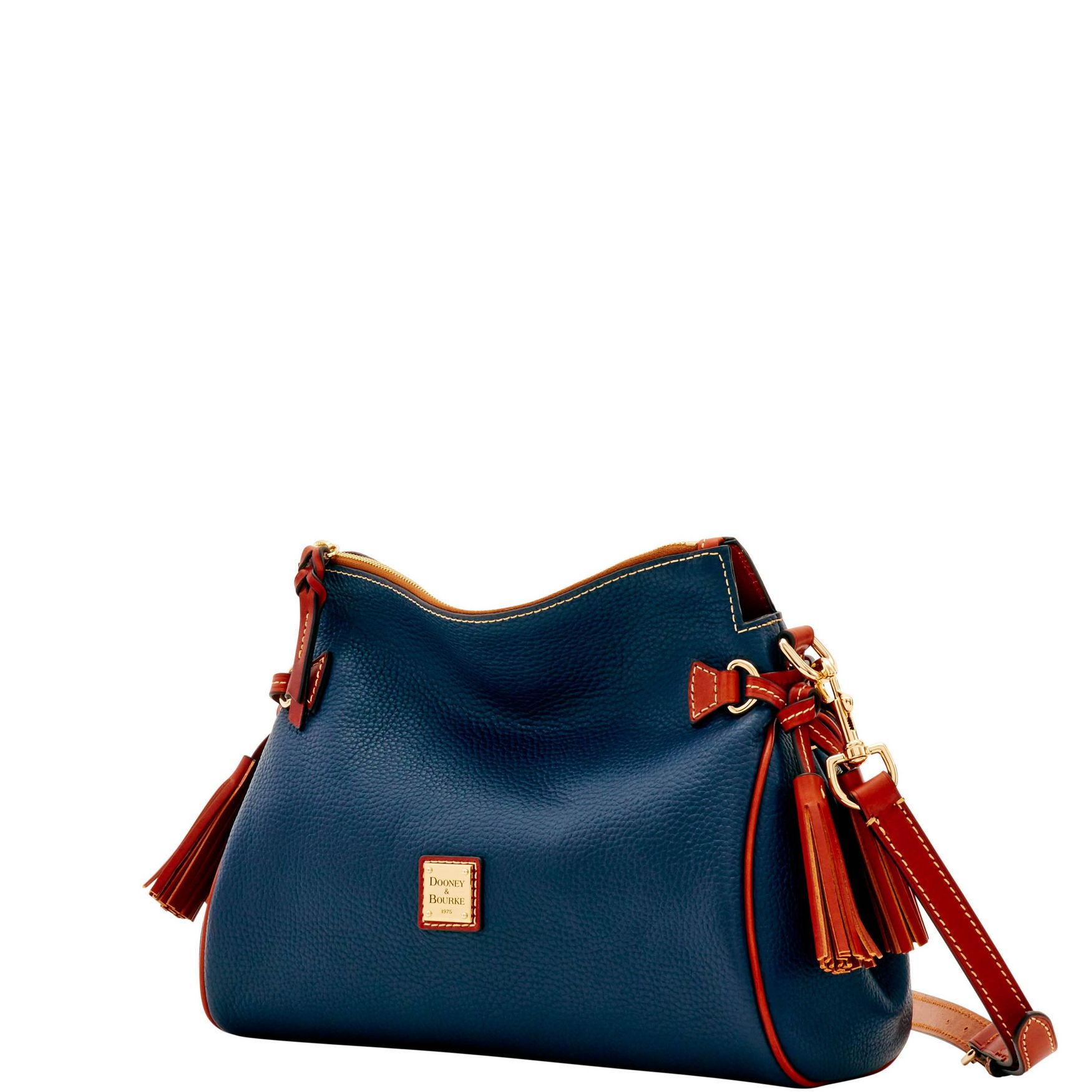 Dooney-amp-Bourke-Pebble-Grain-Medium-Zip-Crossbody-Shoulder-Bag thumbnail 24