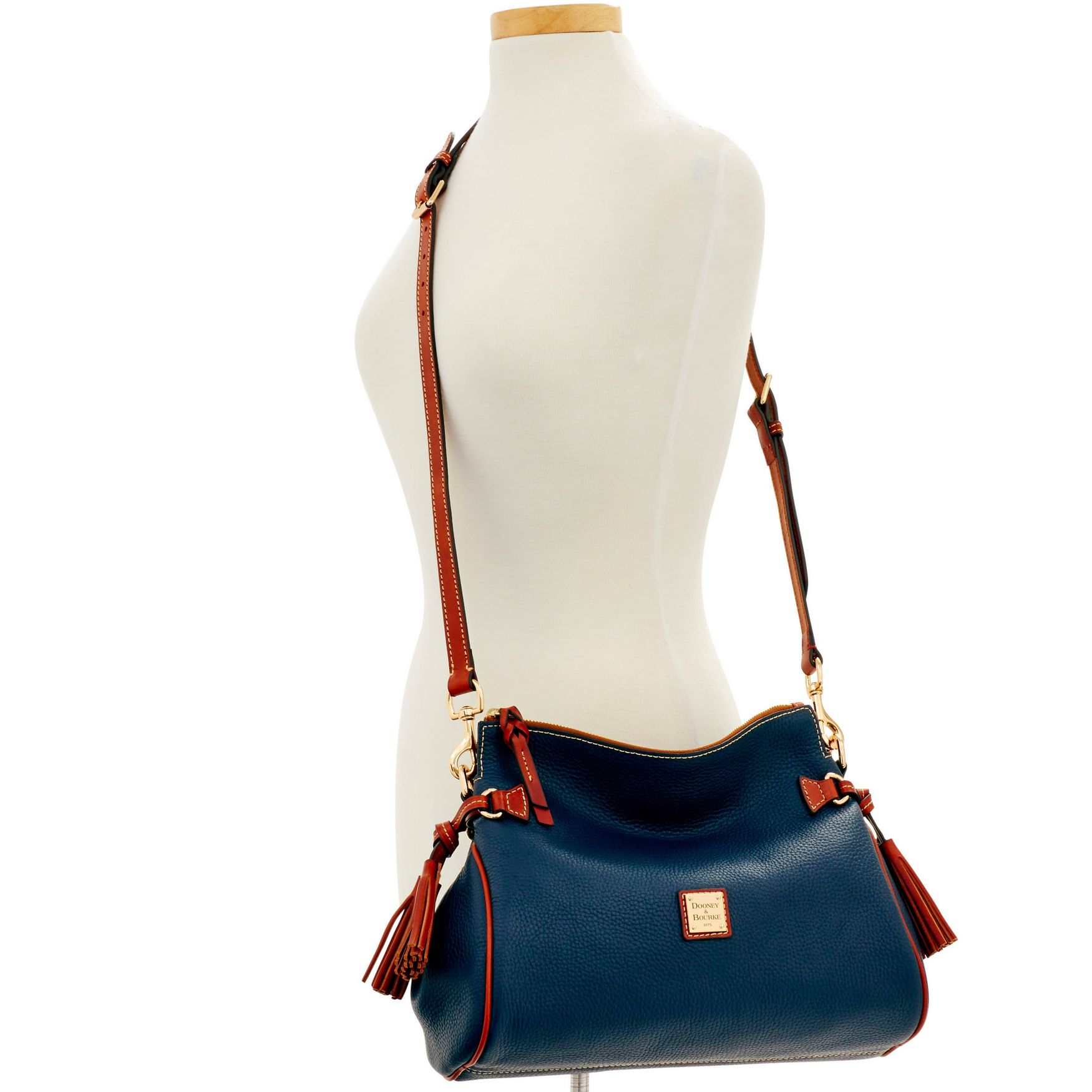 Dooney-amp-Bourke-Pebble-Grain-Medium-Zip-Crossbody-Shoulder-Bag thumbnail 26