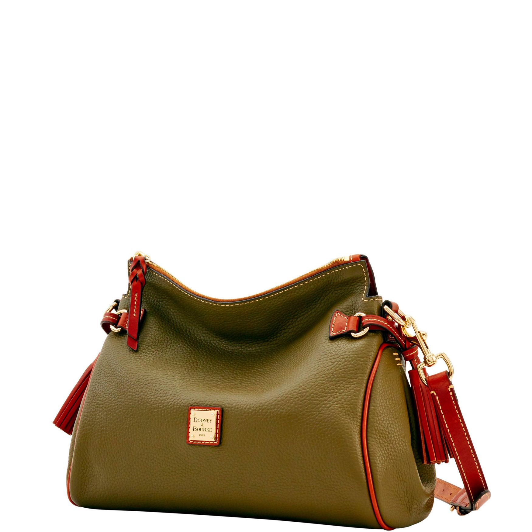 Dooney-amp-Bourke-Pebble-Grain-Medium-Zip-Crossbody-Shoulder-Bag thumbnail 28