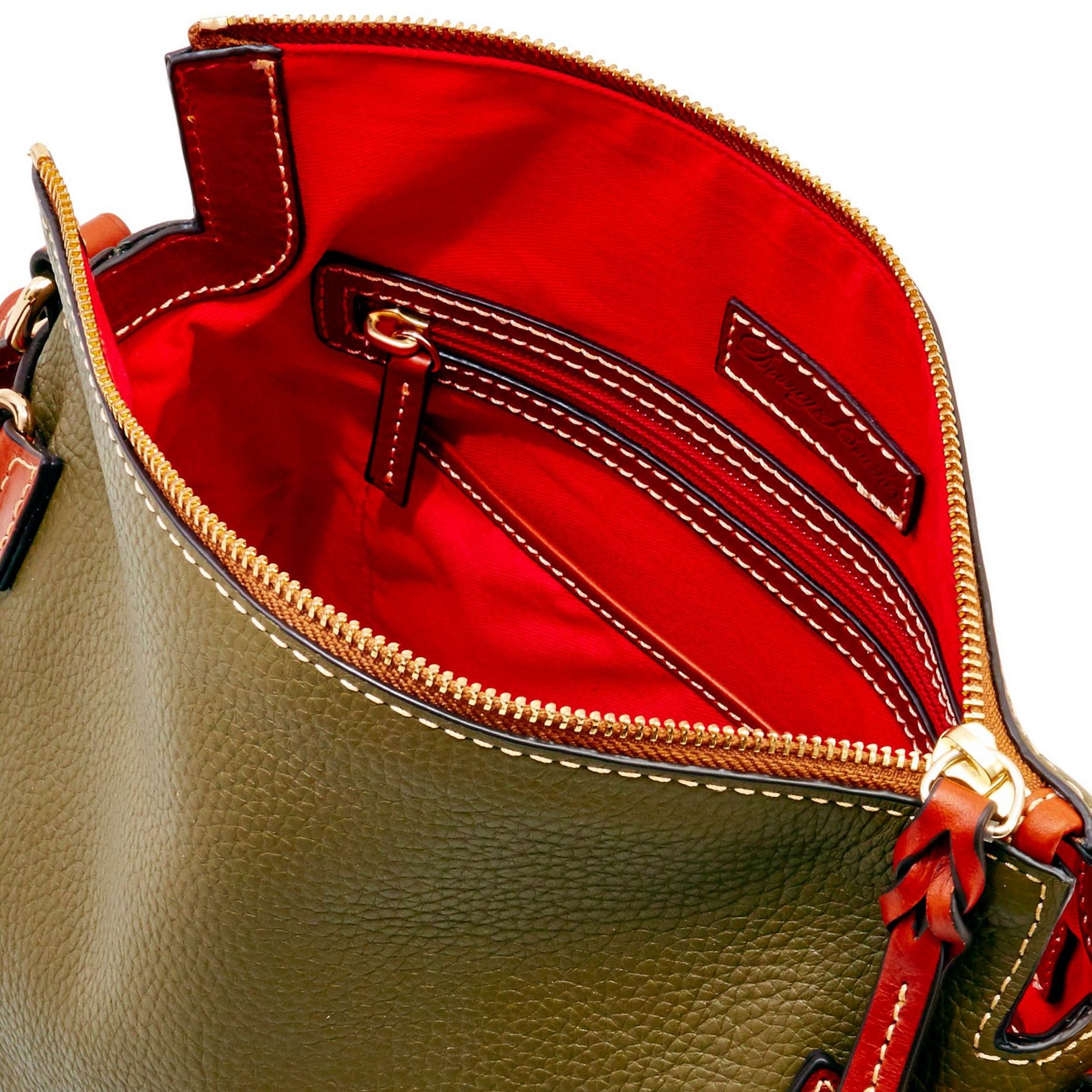 Dooney-amp-Bourke-Pebble-Grain-Medium-Zip-Crossbody-Shoulder-Bag thumbnail 29
