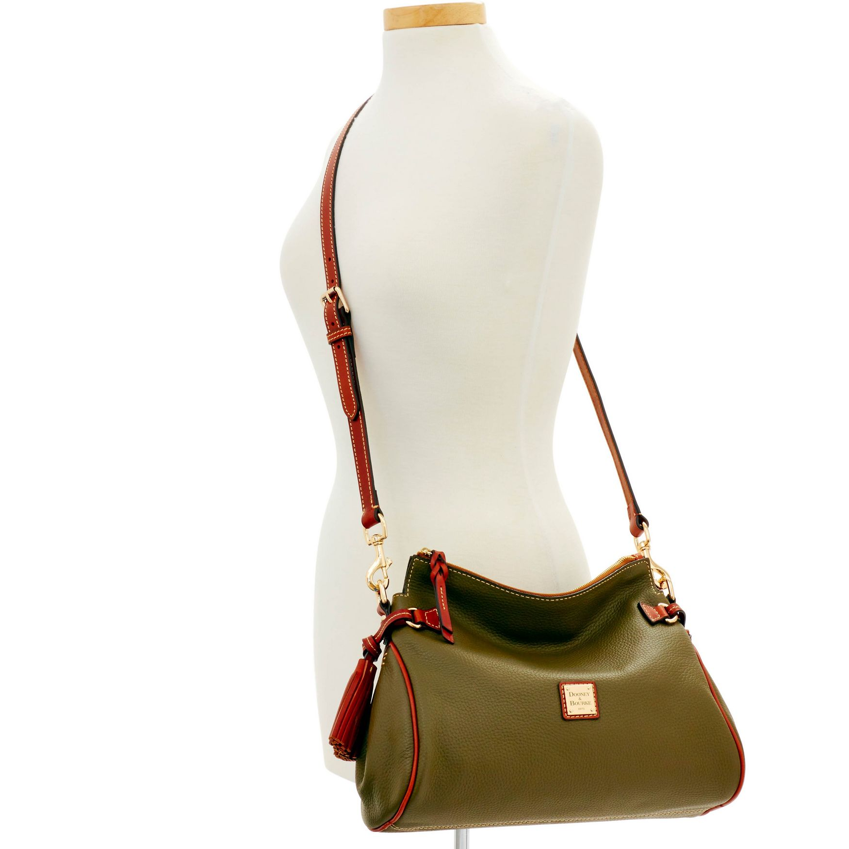 Dooney-amp-Bourke-Pebble-Grain-Medium-Zip-Crossbody-Shoulder-Bag thumbnail 30