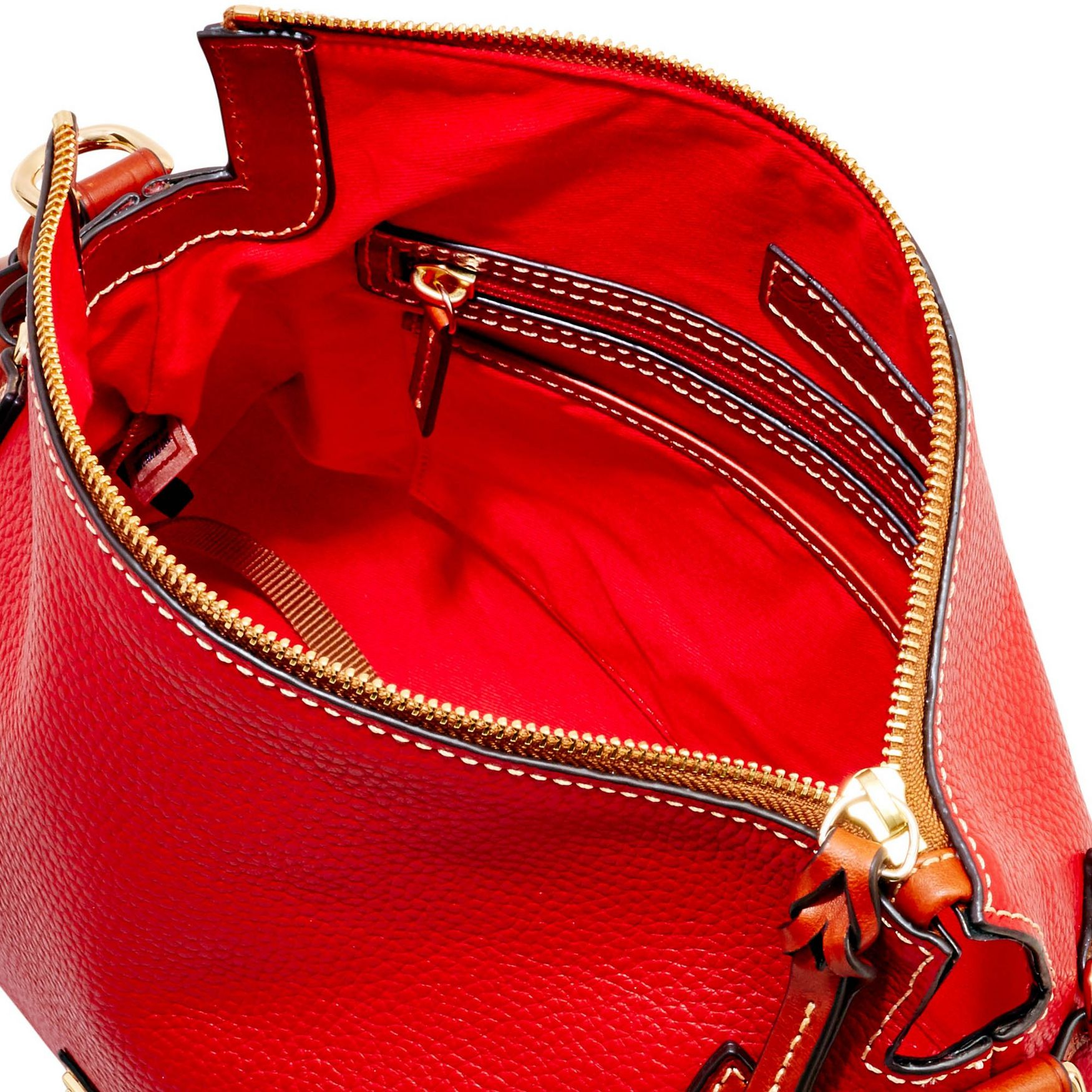 Dooney-amp-Bourke-Pebble-Grain-Medium-Zip-Crossbody-Shoulder-Bag thumbnail 33