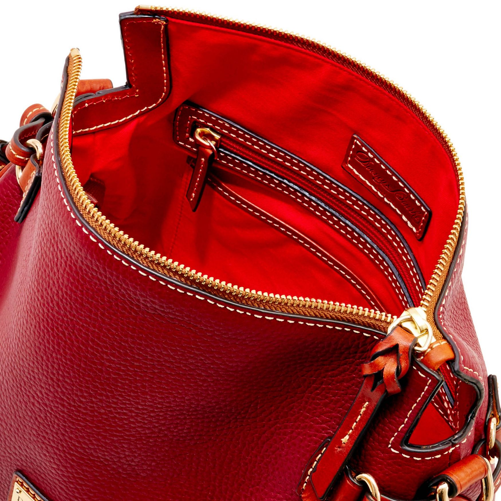 Dooney-amp-Bourke-Pebble-Grain-Medium-Zip-Crossbody-Shoulder-Bag thumbnail 37