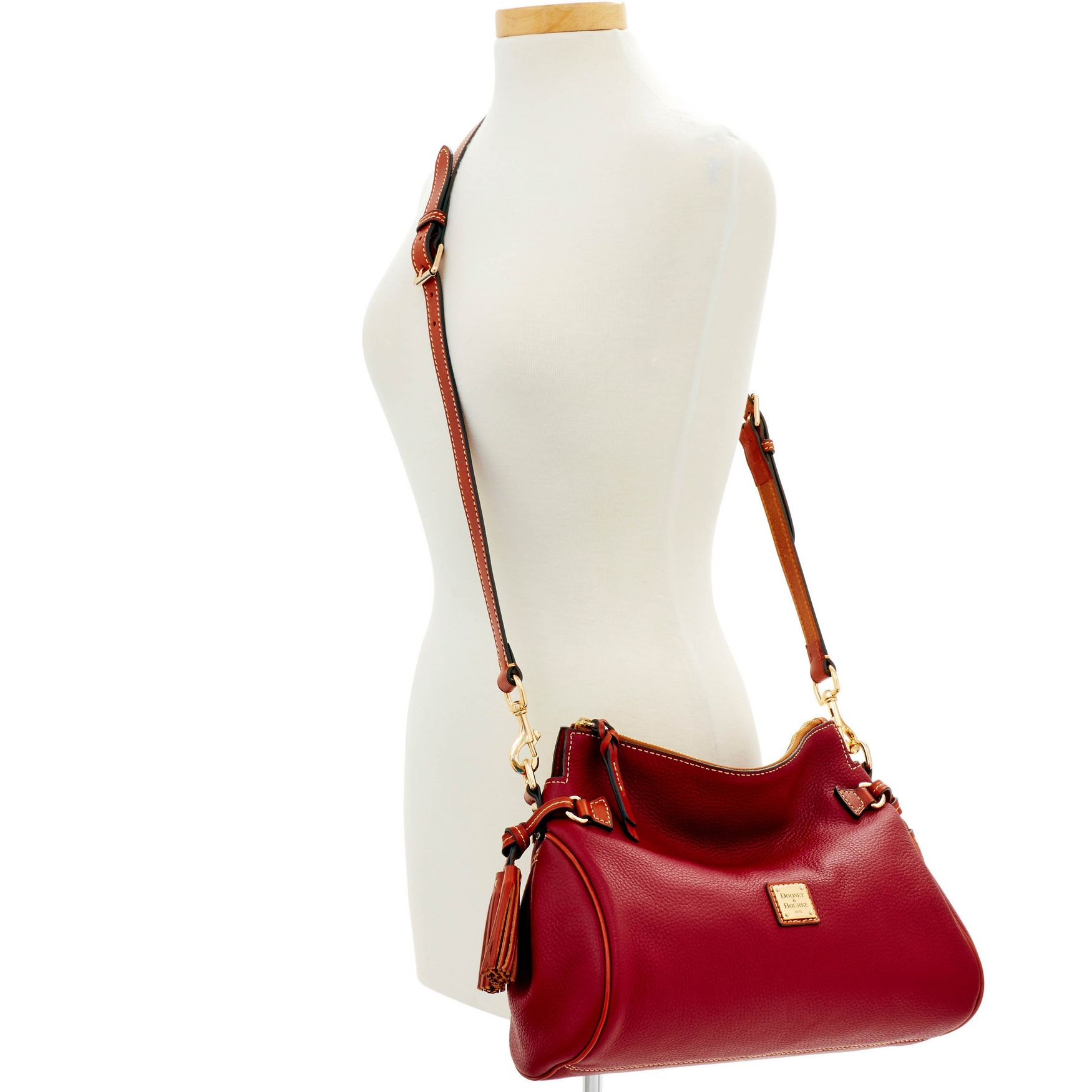 Dooney-amp-Bourke-Pebble-Grain-Medium-Zip-Crossbody-Shoulder-Bag thumbnail 38