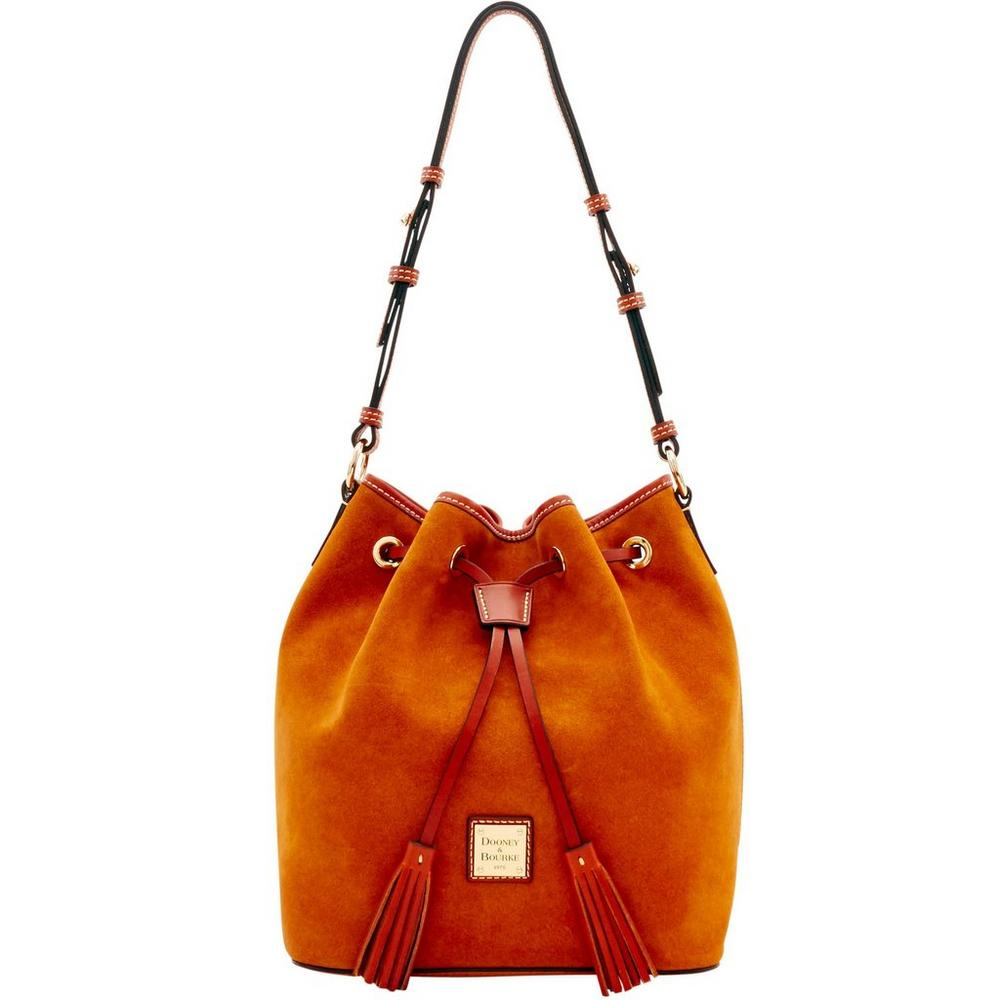 Dooney & Bourke Suede Small Drawstring Bag (Honey)