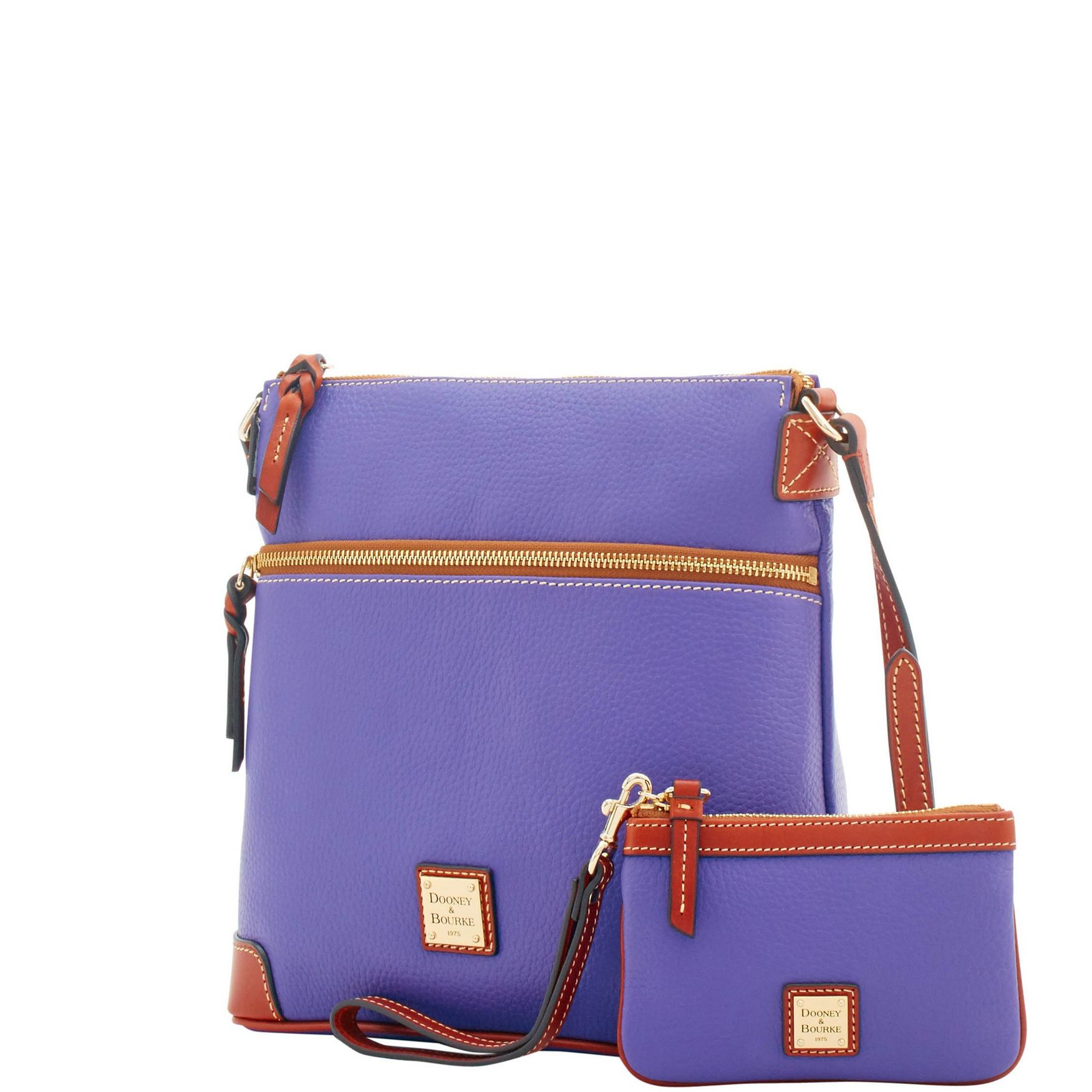 Dooney-amp-Bourke-Pebble-Grain-Crossbody-Medium-Wristlet-Shoulder-Bag thumbnail 4