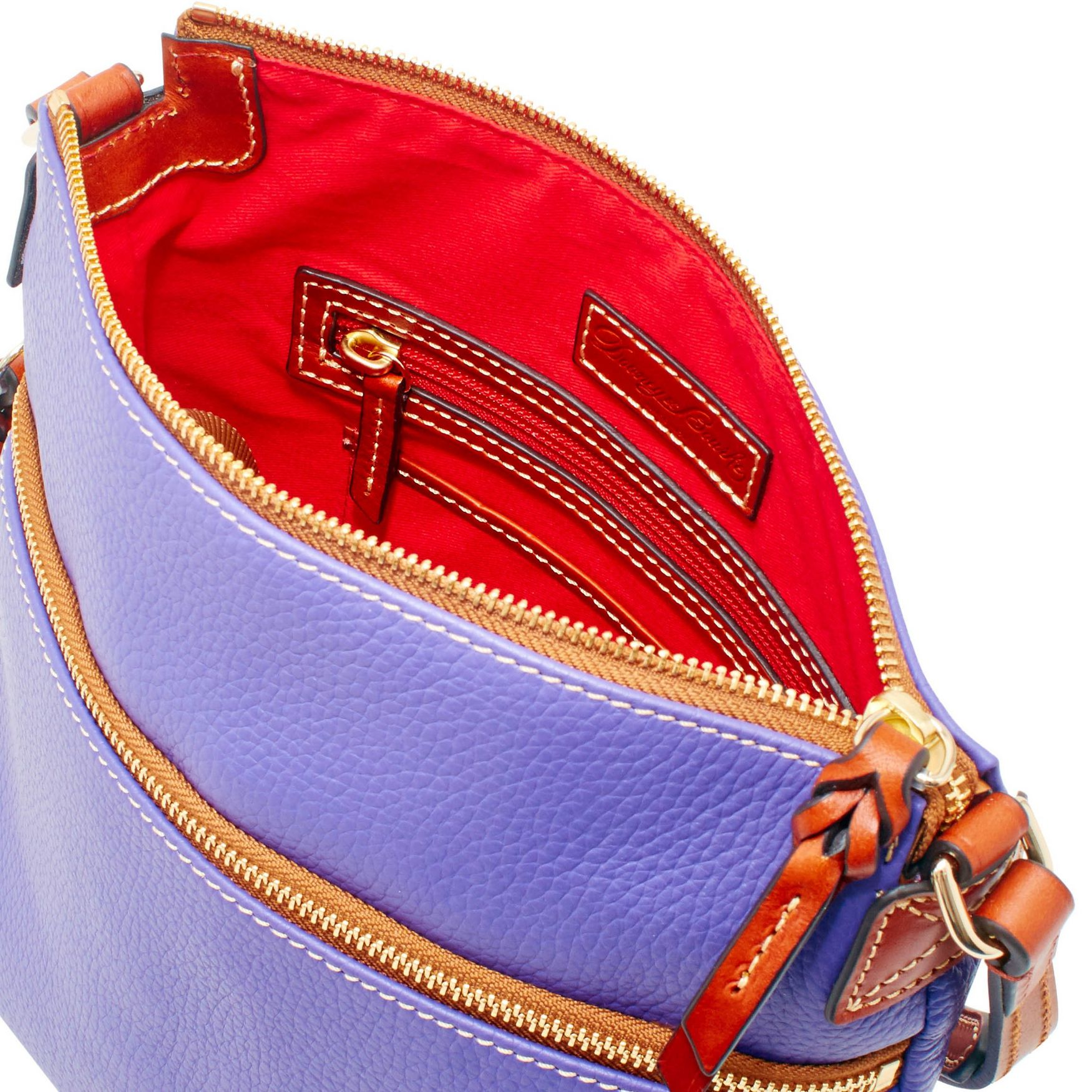 Dooney-amp-Bourke-Pebble-Grain-Crossbody-Medium-Wristlet-Shoulder-Bag thumbnail 5