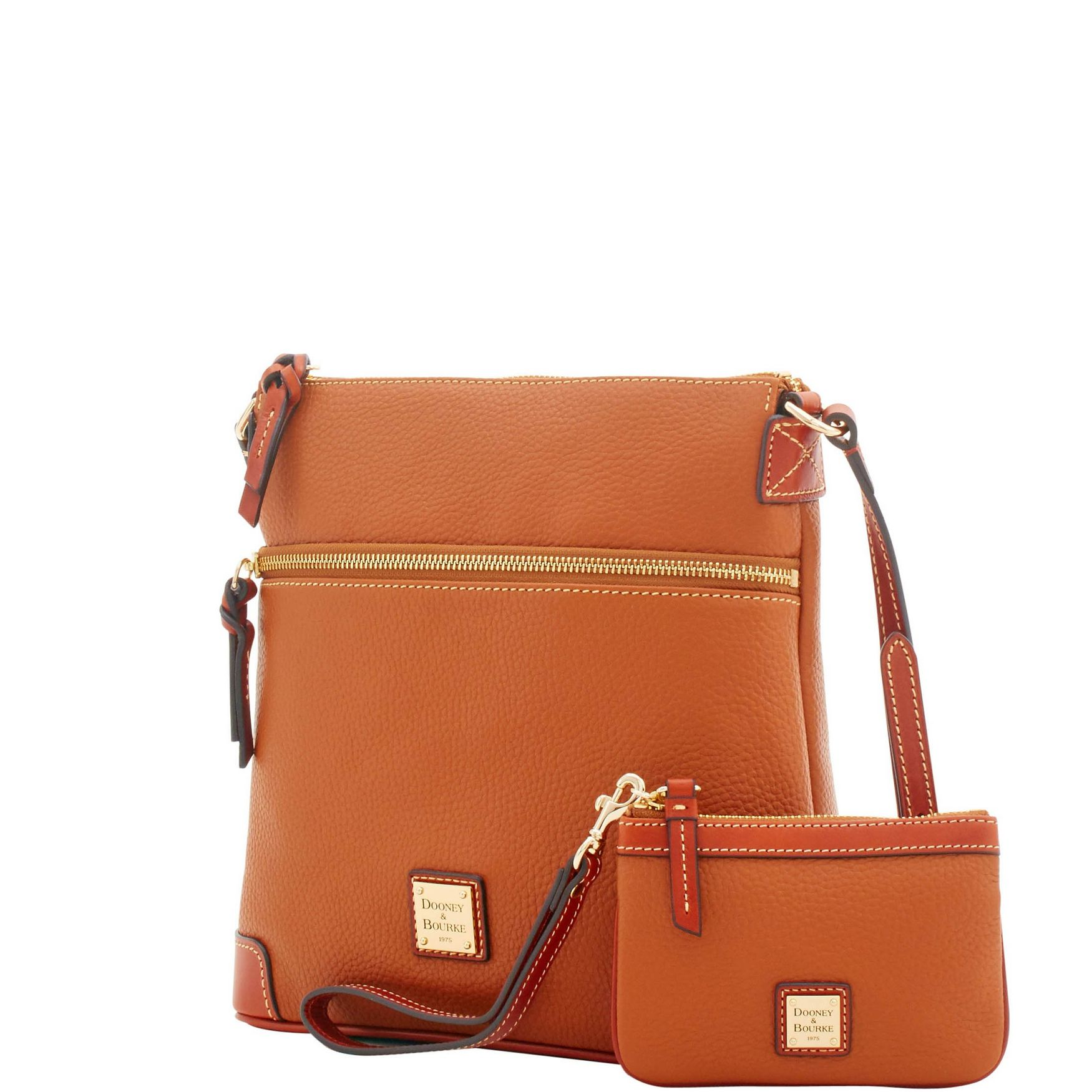 Dooney-amp-Bourke-Pebble-Grain-Crossbody-Medium-Wristlet-Shoulder-Bag thumbnail 12