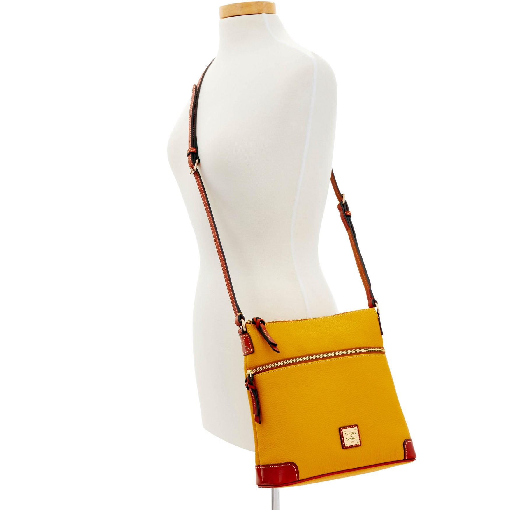 Dooney-amp-Bourke-Pebble-Grain-Crossbody-Medium-Wristlet-Shoulder-Bag thumbnail 30