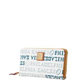 Eagles Large Zip Around Wristlet